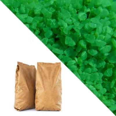 Зелёная кварцевая крошка RAL6037 (pure green) 25кг