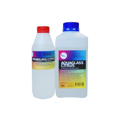 AquaGlass Citrus 1500 грамм (прозрачная эпоксидная смола)