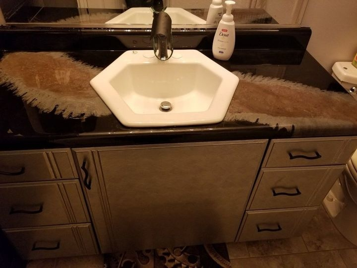 Тумба для ванной в стиле Resin Art