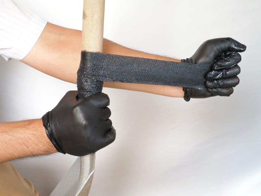 Ремонт трубы эпоксидной смолой и стеклолентой (стеклотканью)