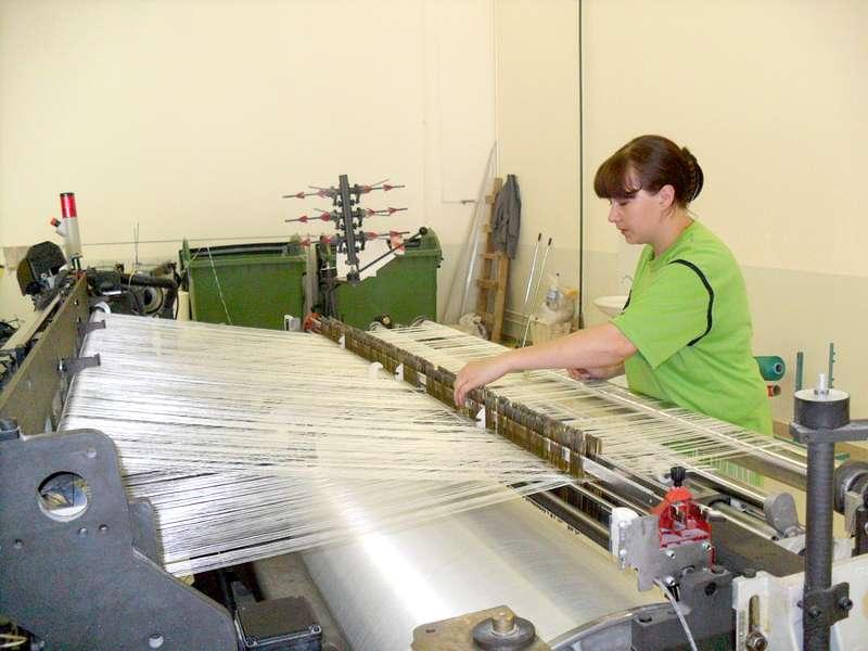 Изготовление стеклоткани на ткацком станке