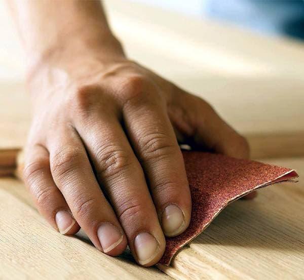 Подготовка поверхности: шлифовка