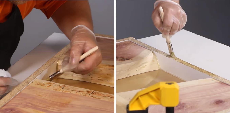 Покрытие поверхности разделительным воском